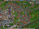 OpenTTD: Futuristic town with air traffic
